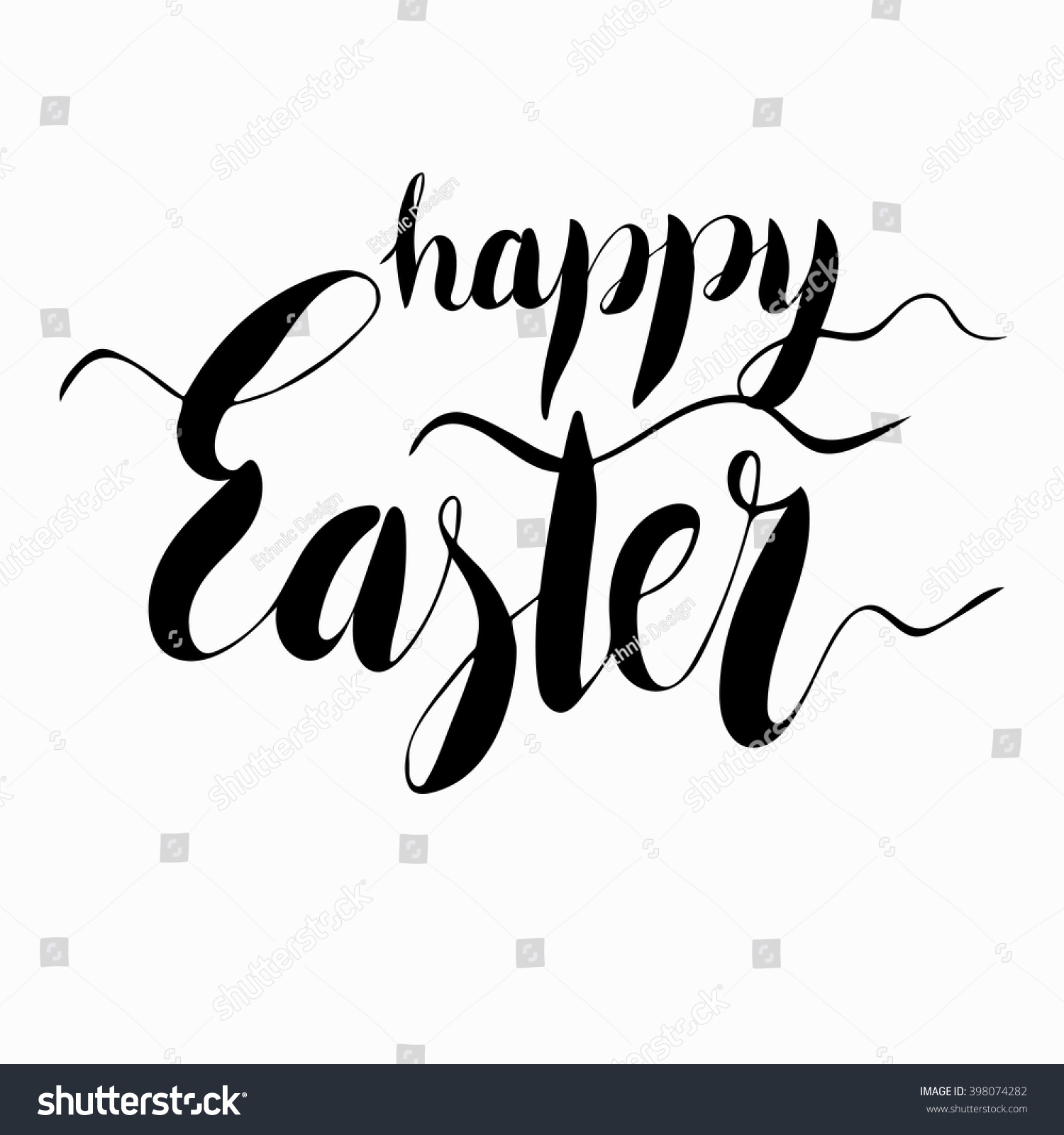 Easter hand written calligraphic text stock vector