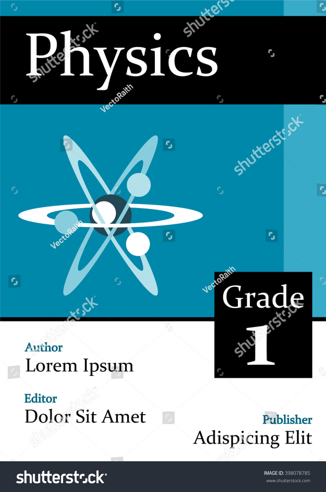 Illustrated Book Cover Vector ~ A physics book cover flat style stock vector royalty free