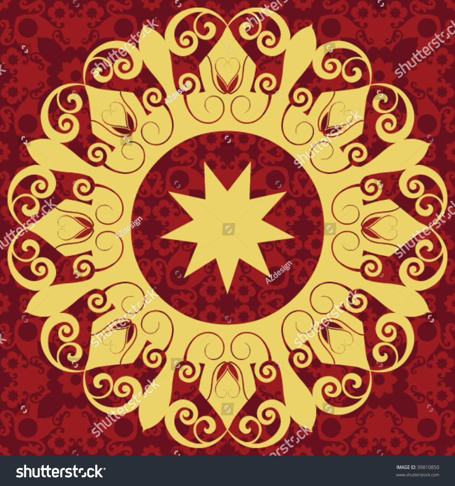 Ornate baroque decoration vector design elements for Baroque design elements