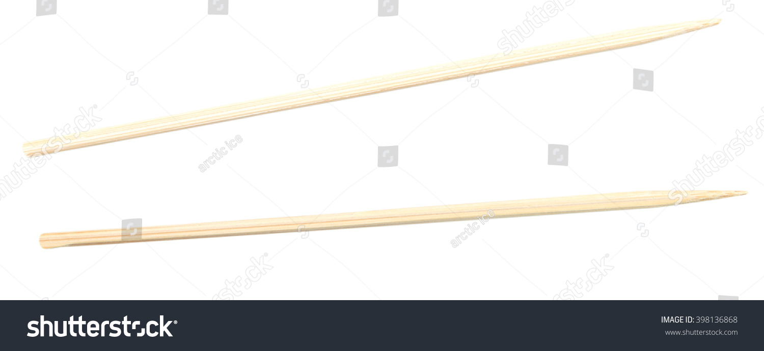 Two sticks kebab canape isolated on stock photo 398136868 for Canape sticks