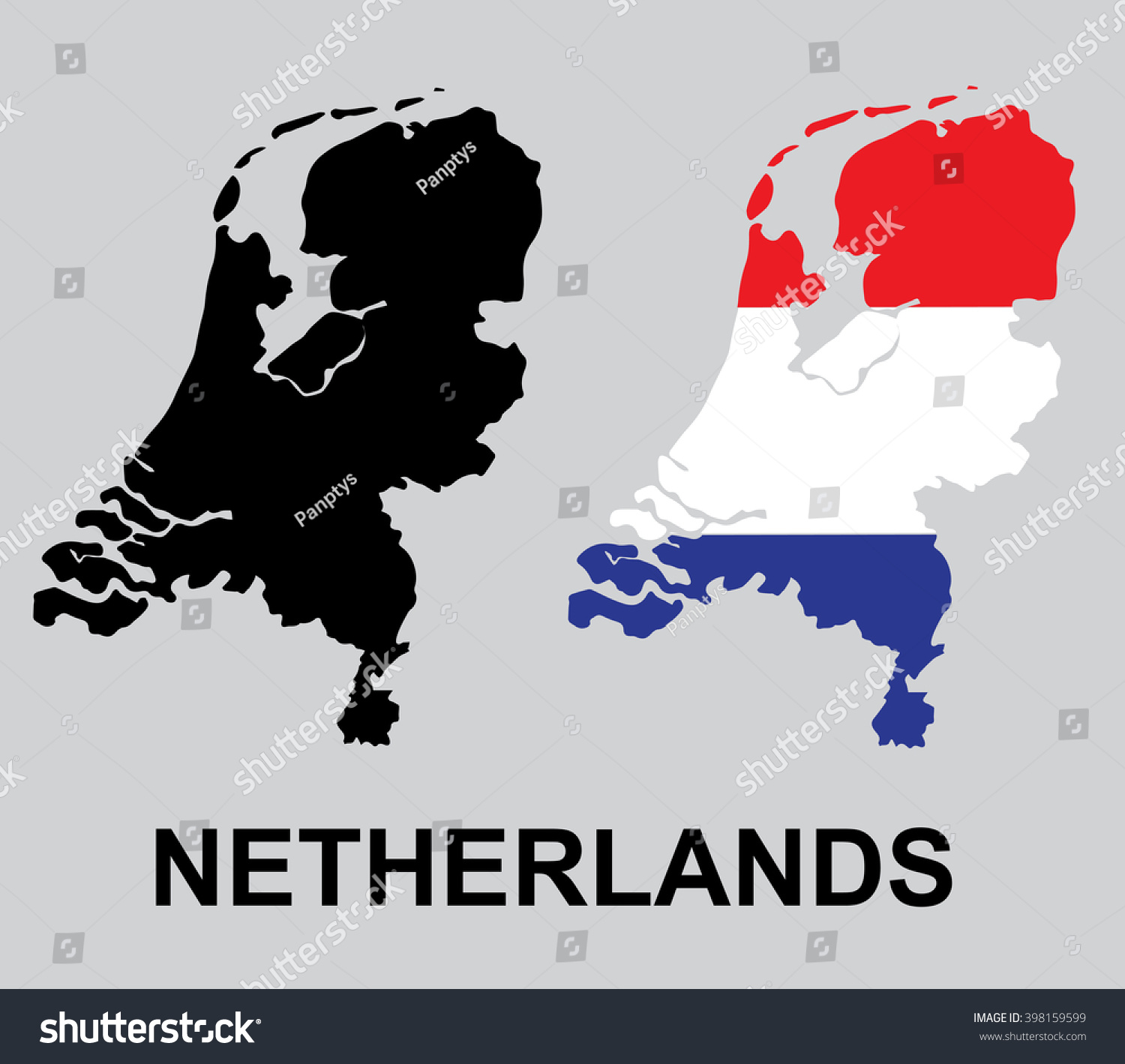 traditional colors flag netherlands holland vector stock vector