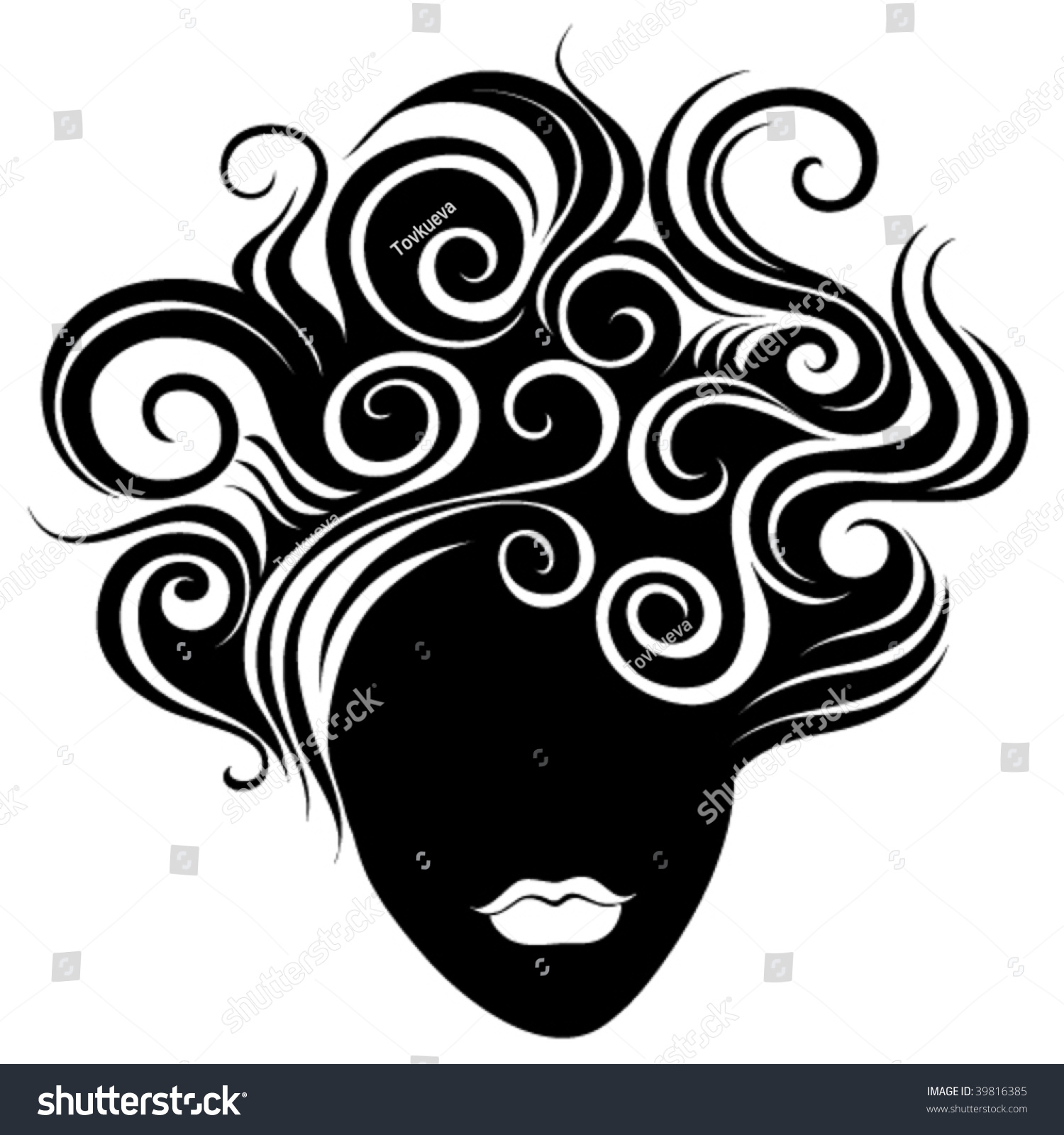 Abstract Woman Face Stock Vector 39816385 - Shutterstock