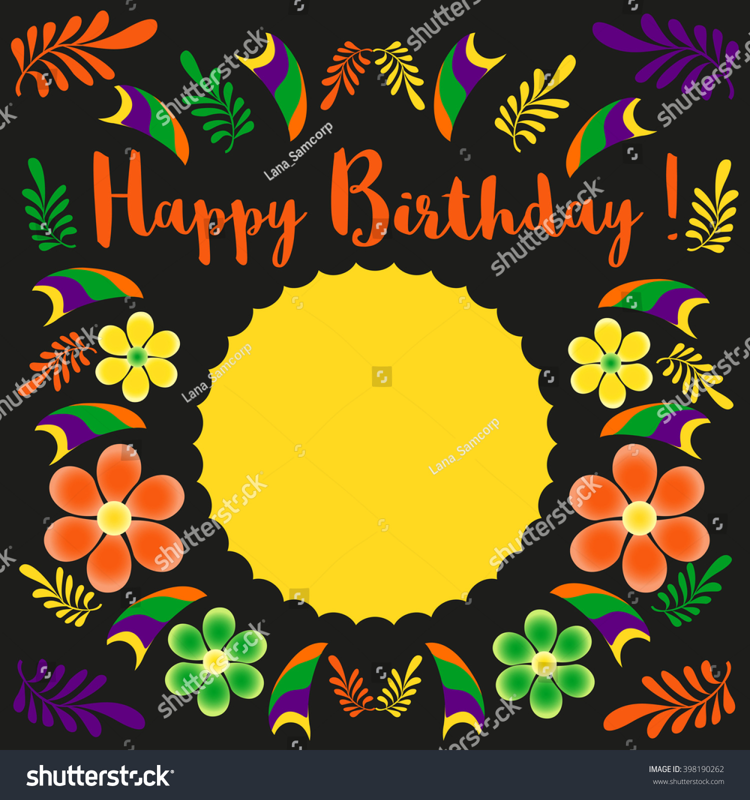 B day poster designs - Happy Birthday Card Template Poster On Party Celebration Blank Space For Greeting Idea