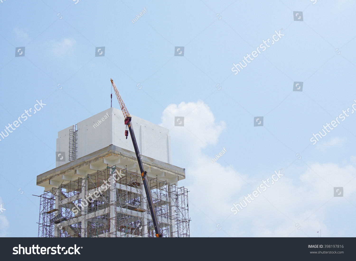 Elevated Water Tank Under Maintenance Stock Photo (Edit Now) 398197816