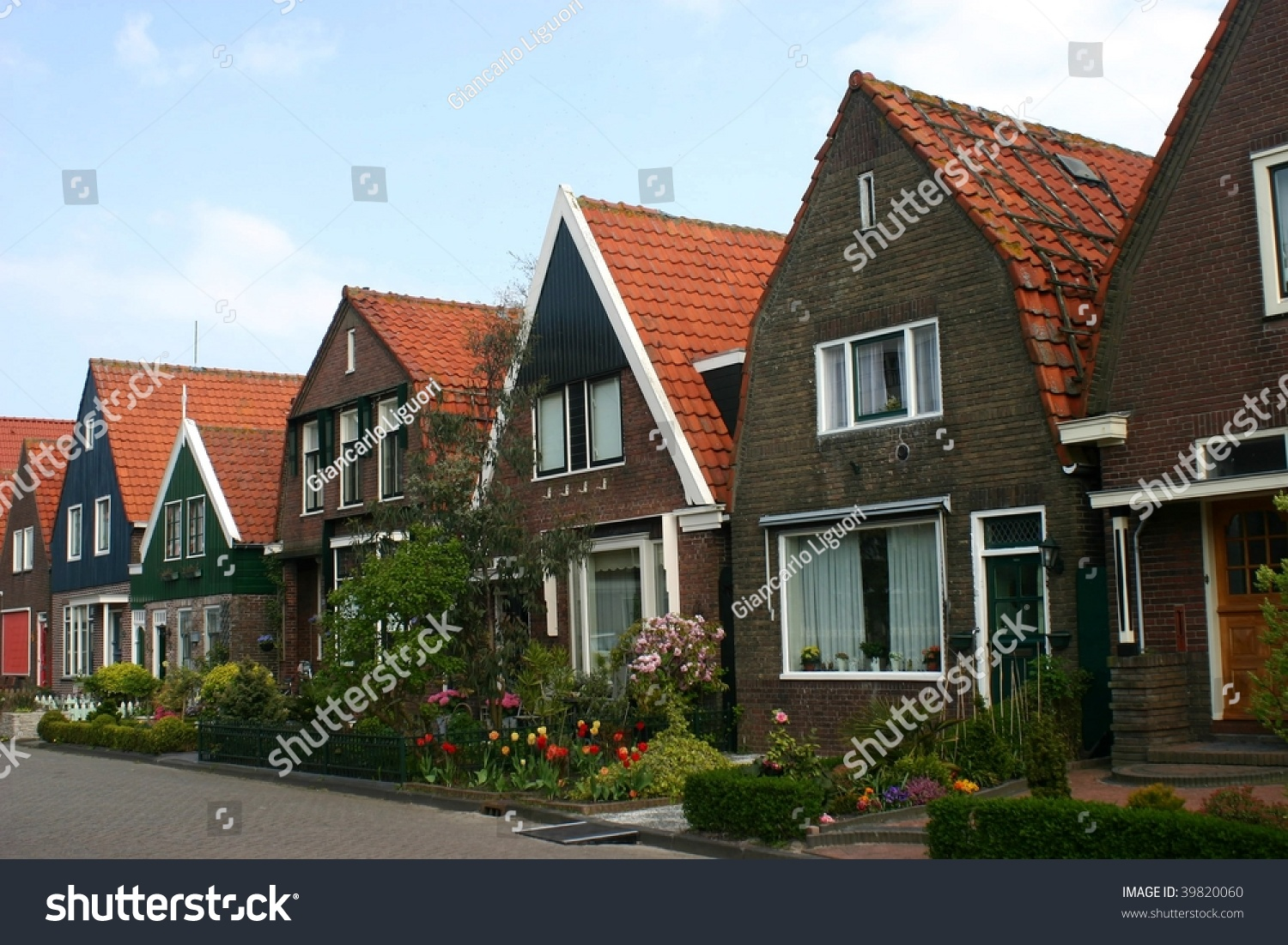 Traditional Houses In The Netherlands Stock Photo 39820060