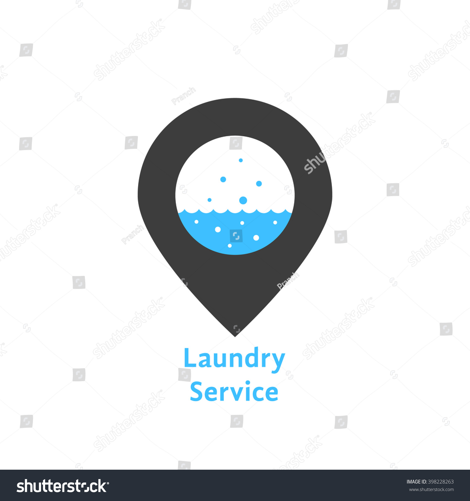 Laundry Service Simple Pin Concept Professional Stock Photo Photo