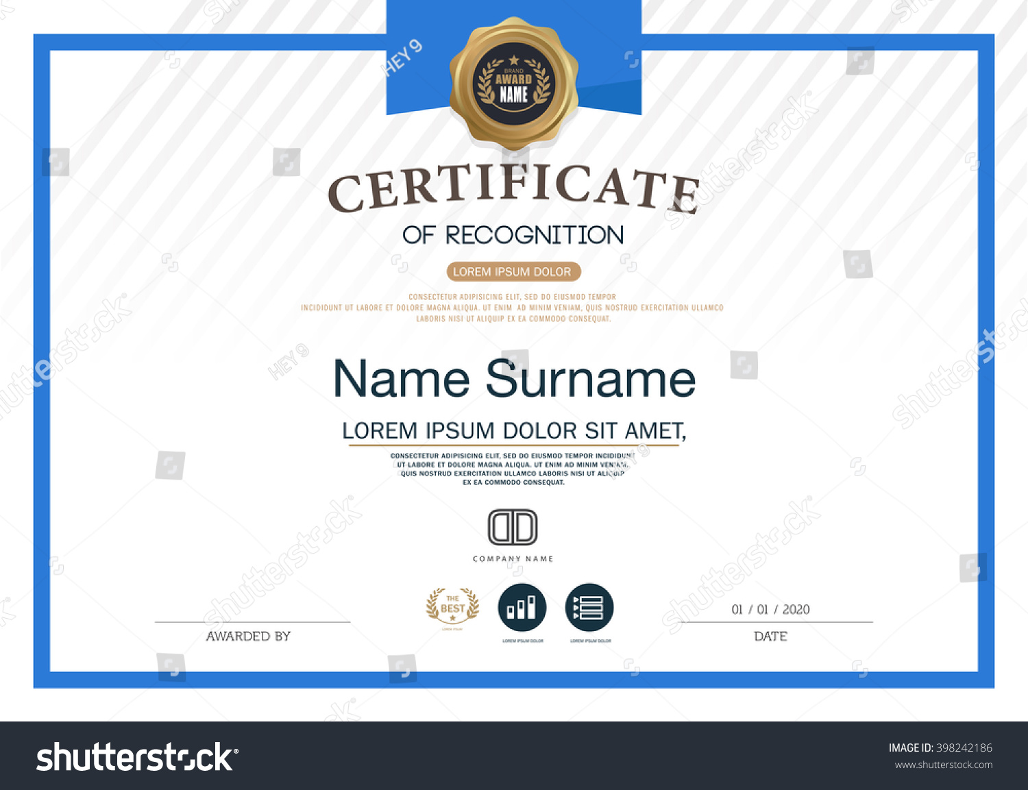 Certificate recognition frame design template layout certificate of recognition frame design template layout template in a4 size yelopaper Image collections