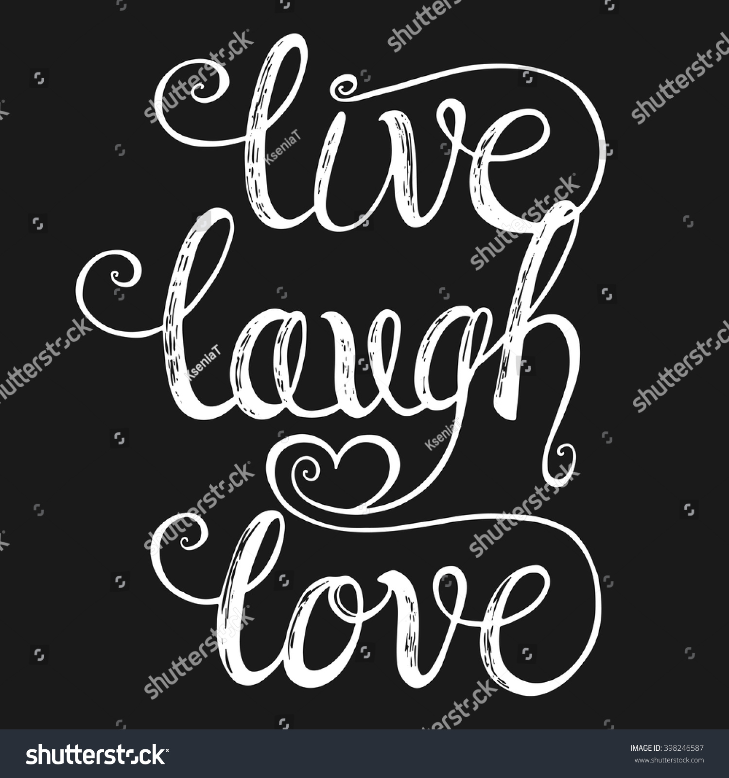 Live laugh love design greeting cards stock vector royalty free live laugh love design for greeting cards valentine day wedding posters m4hsunfo