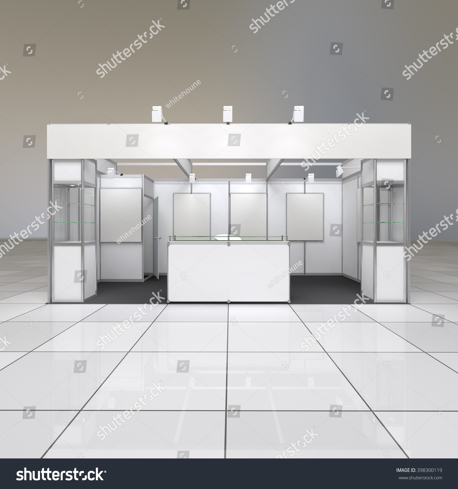 Exhibition Stand Design Drawings : Modern simple design exhibition stand blank stock illustration