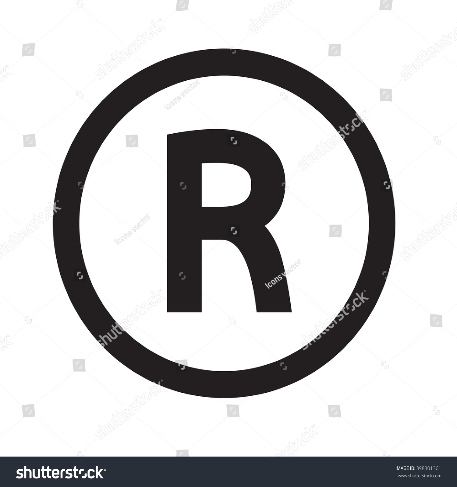 Basic Font Letter R Icon Illustration Stock Vector Hd Royalty Free