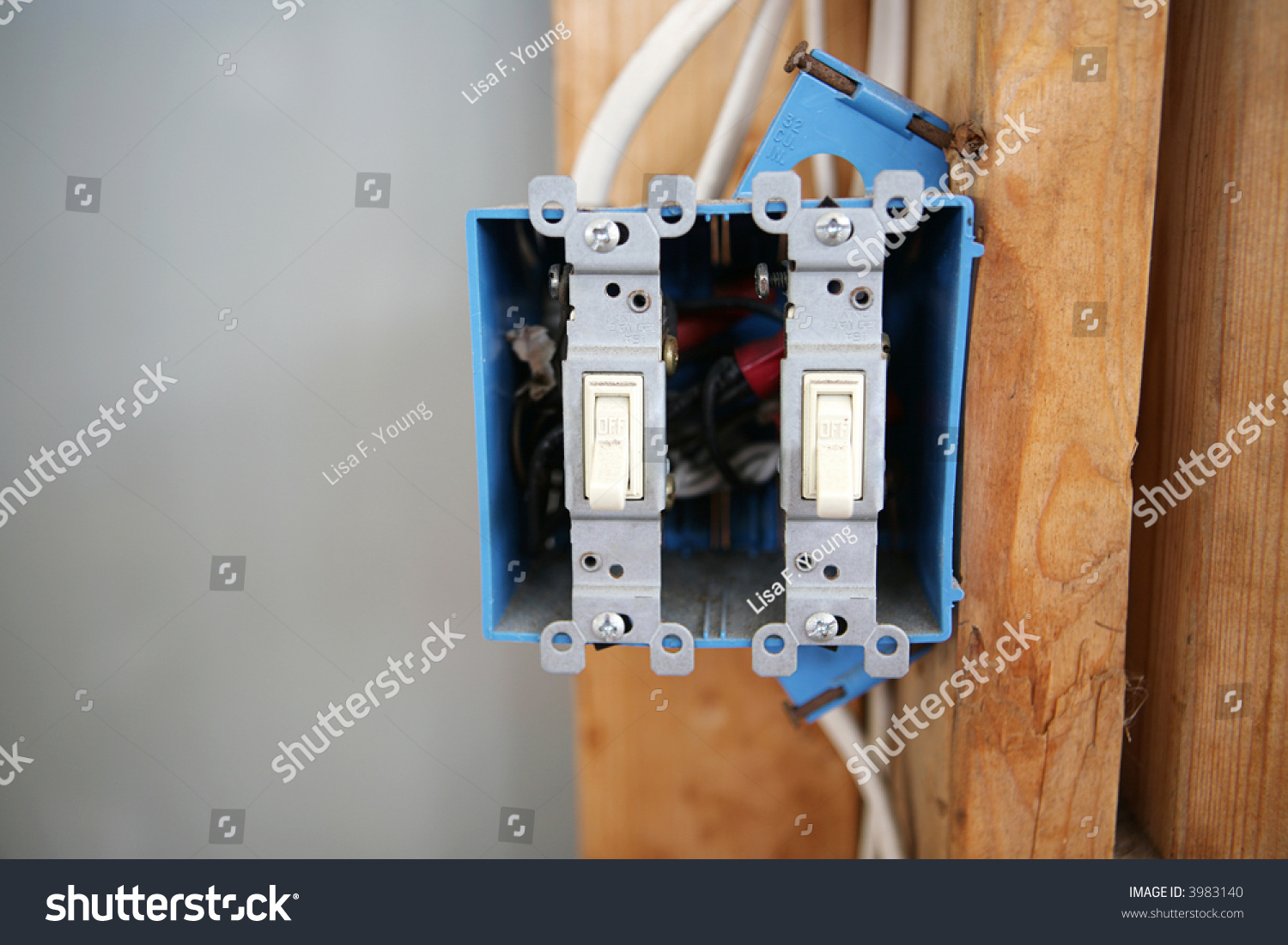 Two Gang 120 Volt Single Pole Stock Photo (Edit Now) 3983140 ...