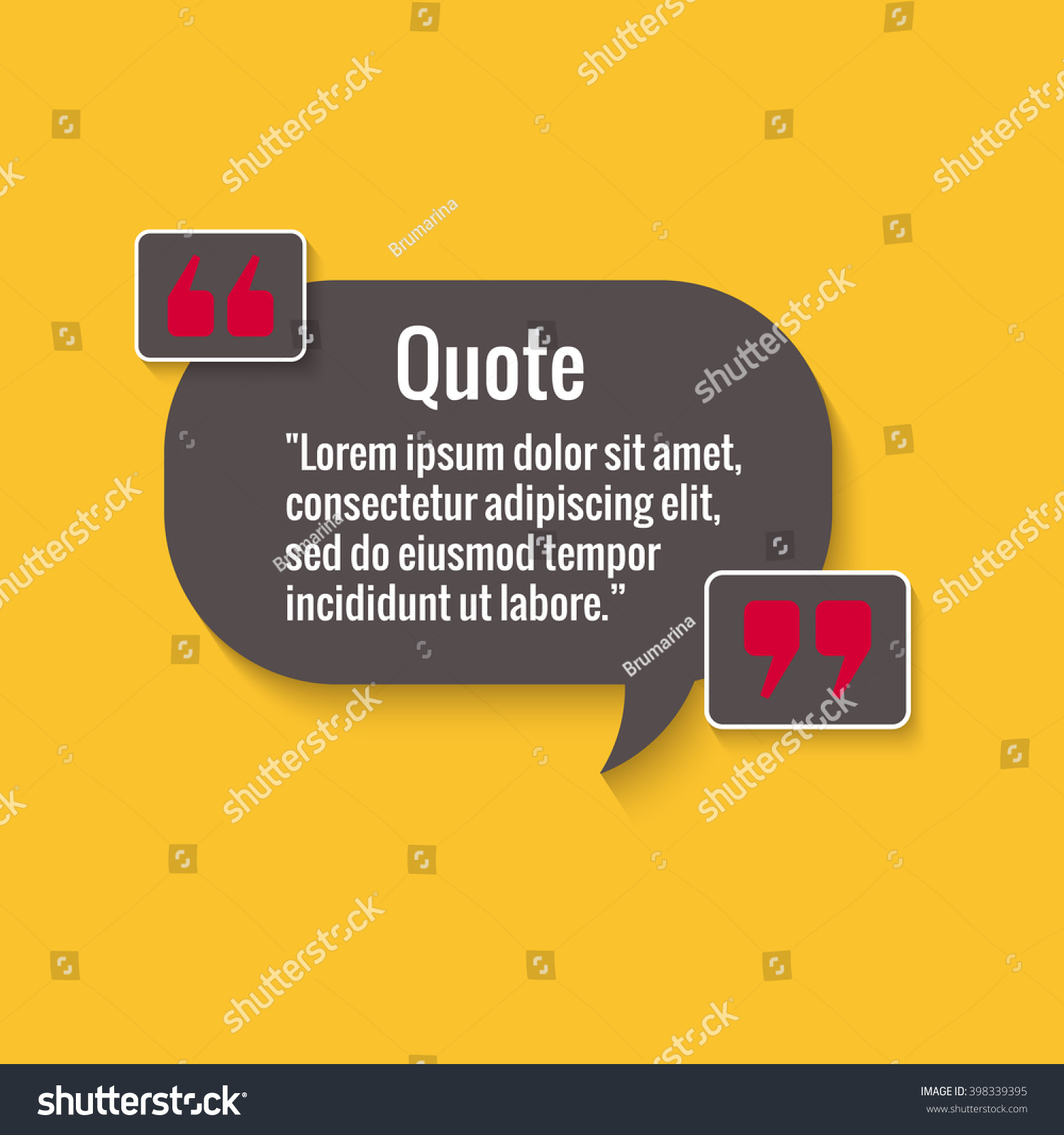 Quote Bubble Empty Quote Template Your Stock Photo (Photo, Vector ...
