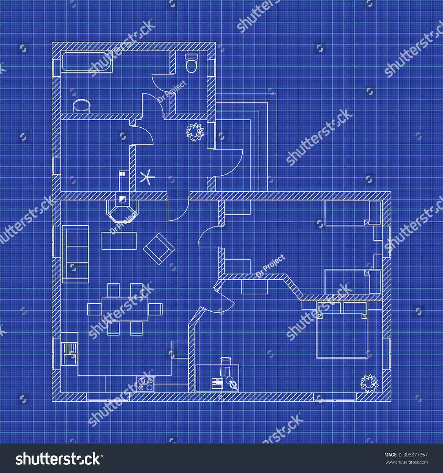 Blueprint floor plan modern apartment on vectores en stock 398377357 blueprint floor plan of a modern apartment on graph paper vector illustration malvernweather Choice Image