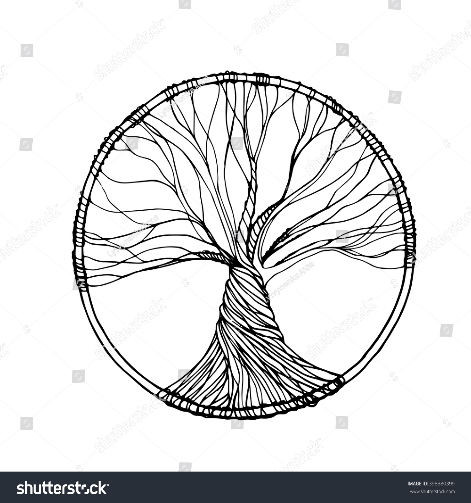 Tree of life ornament - Vector Ornament Decorative Zentangle Tree Of Life Perfect For Coloring Books Prints
