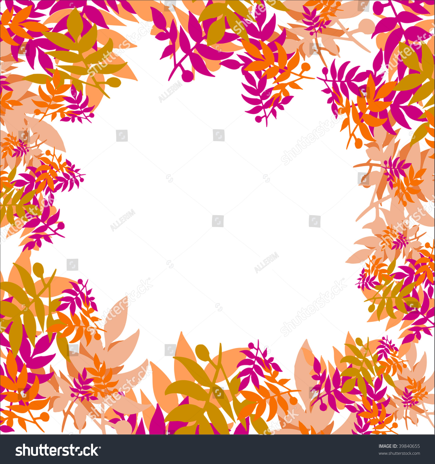 Autumn leaves decoration stock photo 39840655 shutterstock for Autumn leaf decoration