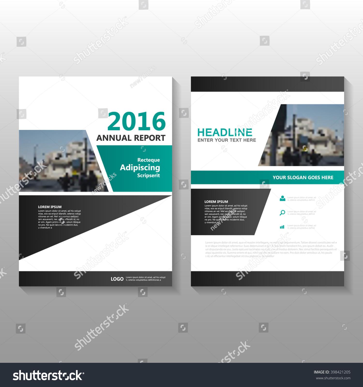 Book Cover Black Fusion : Green black elegance vector annual report 库存矢量图