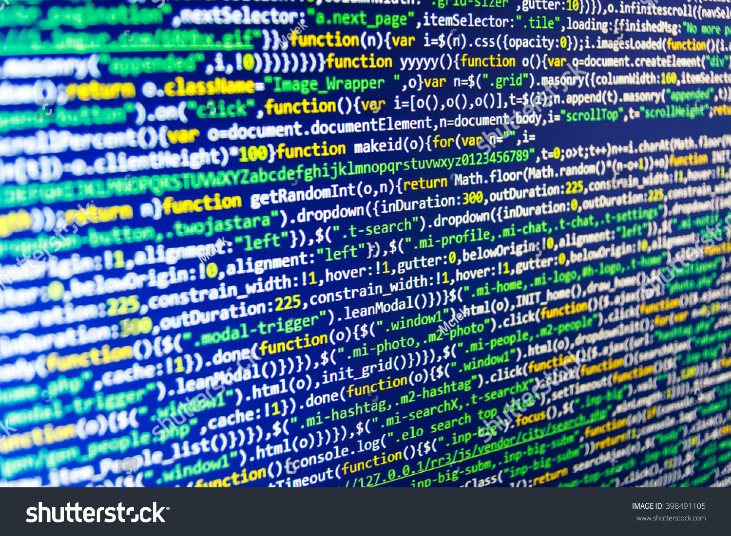 Programming code abstract screen of… Stock Photo 398491105