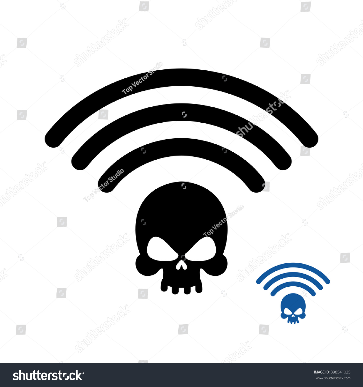 Wifi Death Wirelessly Transmission Doom Remote Stock Illustration