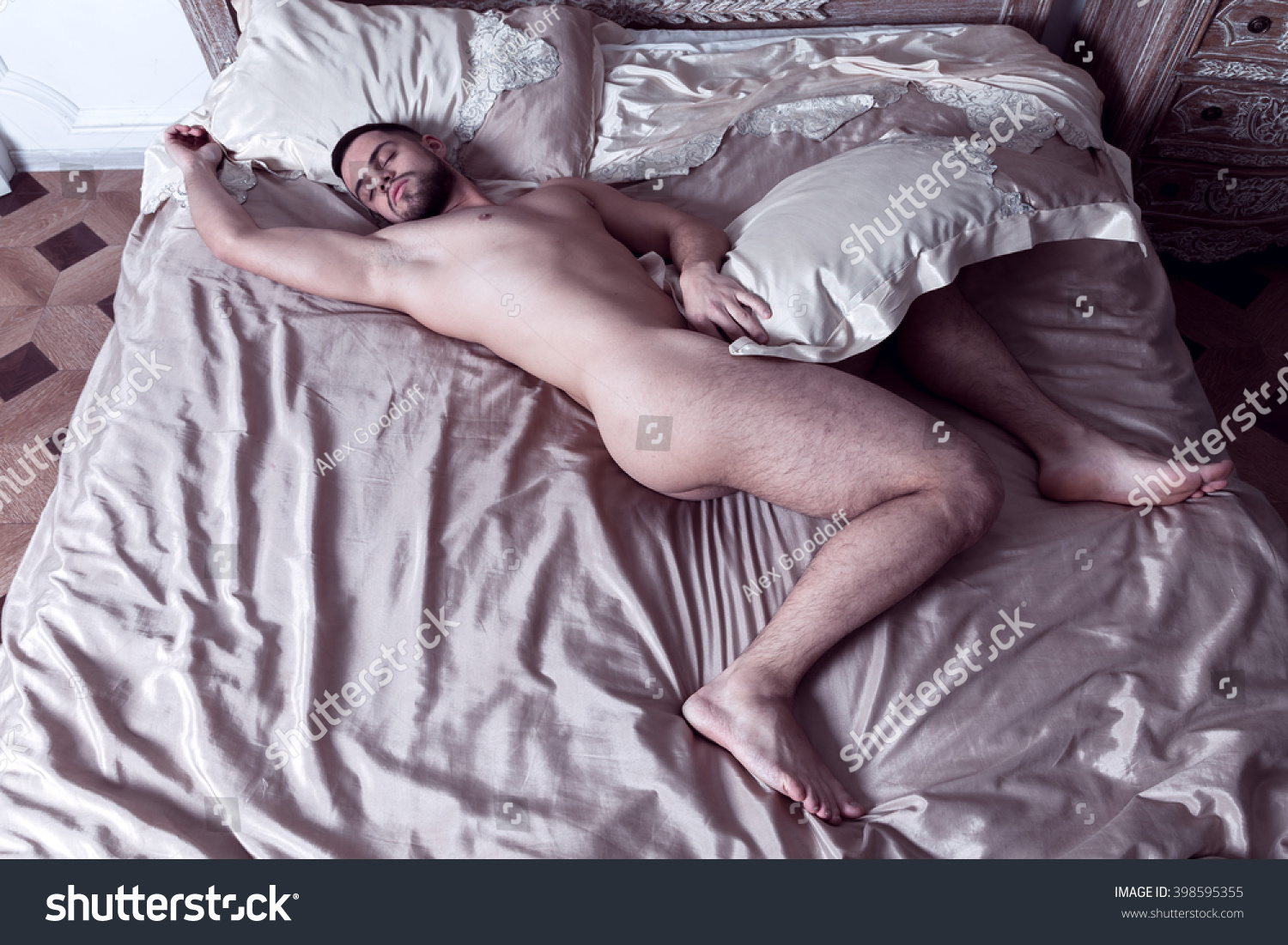 male asleep nude ass