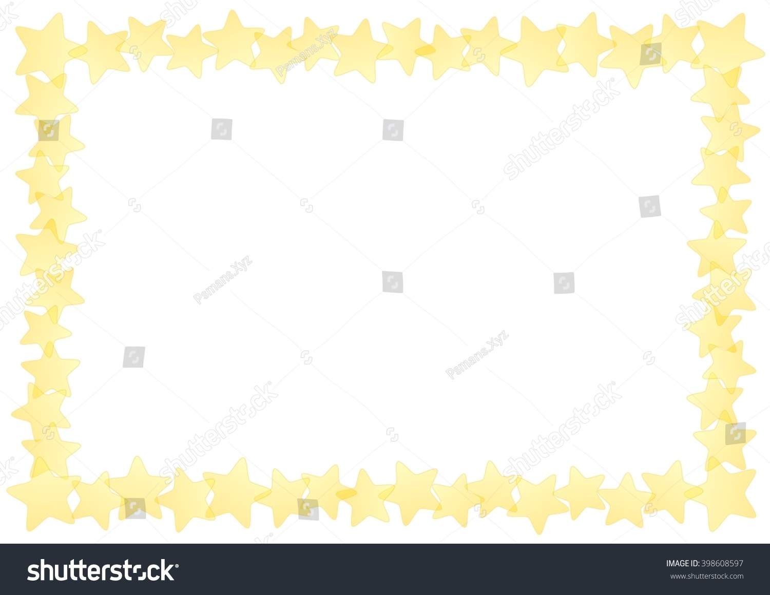 Cute Pastel Yellow Stars Border Frame Stock Illustration ...