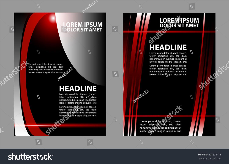 Abstract Vector Modern Flyer Brochure Design Templates Ez Canvas