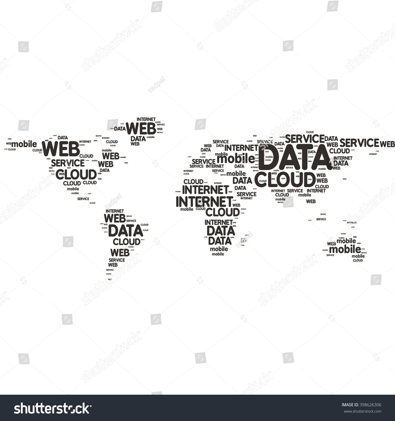 Word sharp vector design world map stock vector royalty free word sharp vector design world map web tech gumiabroncs Choice Image
