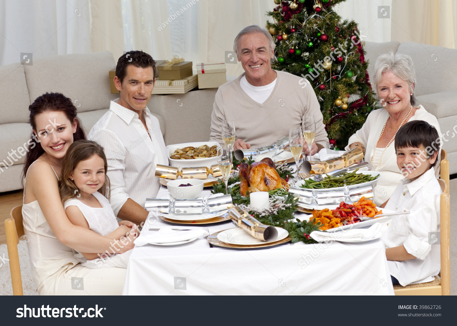 image Christmas family dinner witha a twist