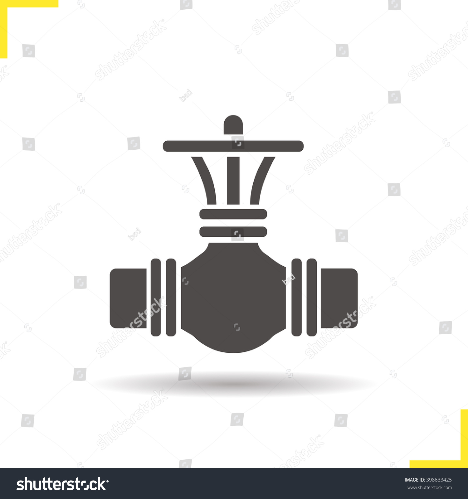 Gas Pipe Valve Icon Industrial Pipeline Stock Vector Royalty Free