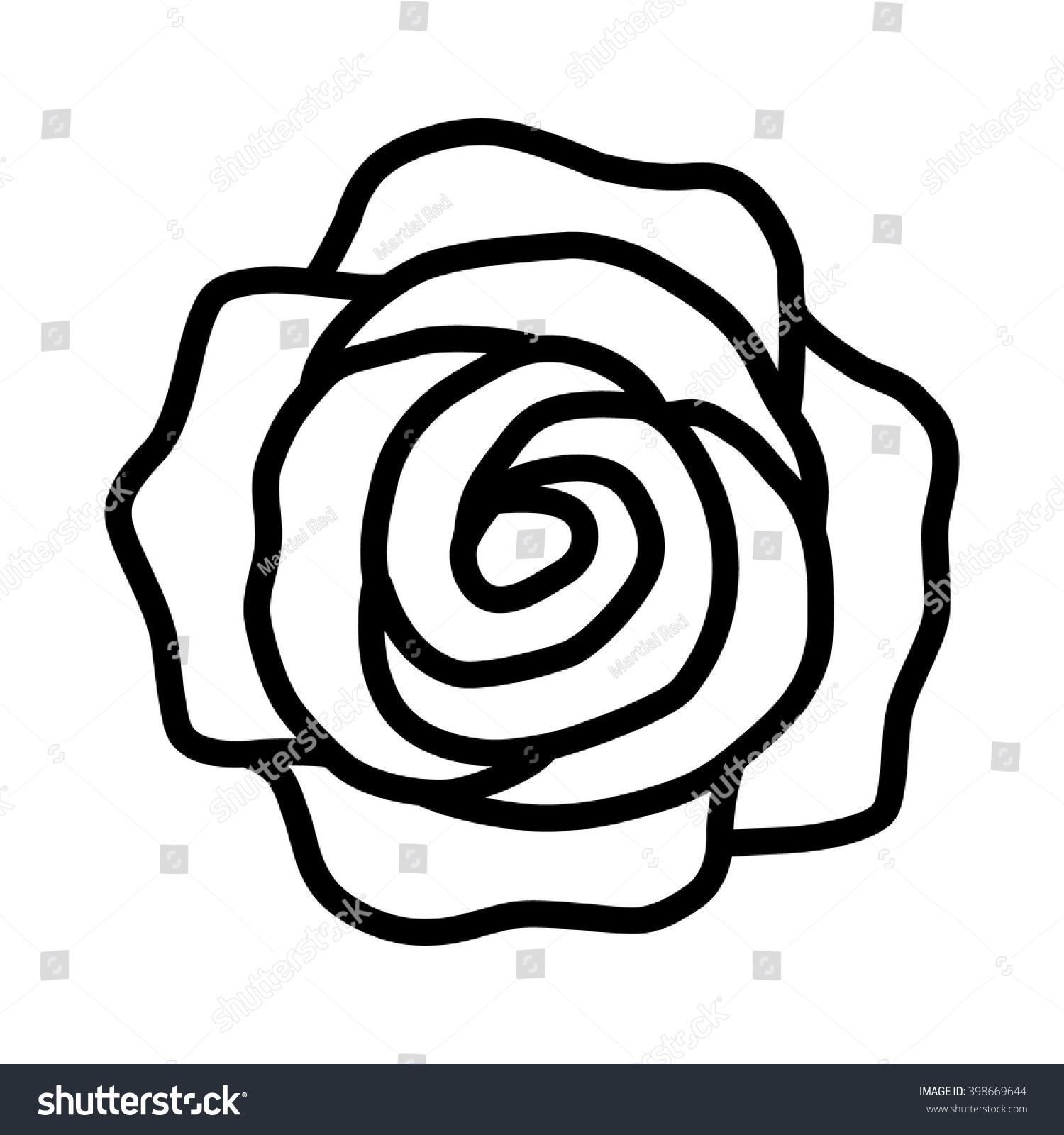 Line Art App : Romantic rose flower blossom line art stock vector