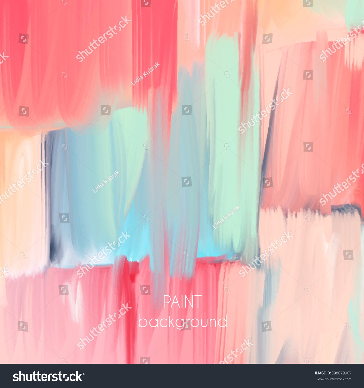 Pastel Tone Good Color To Paint A Kitchen: Abstract Oil Painting Texture Hand Drawn Stock Vector