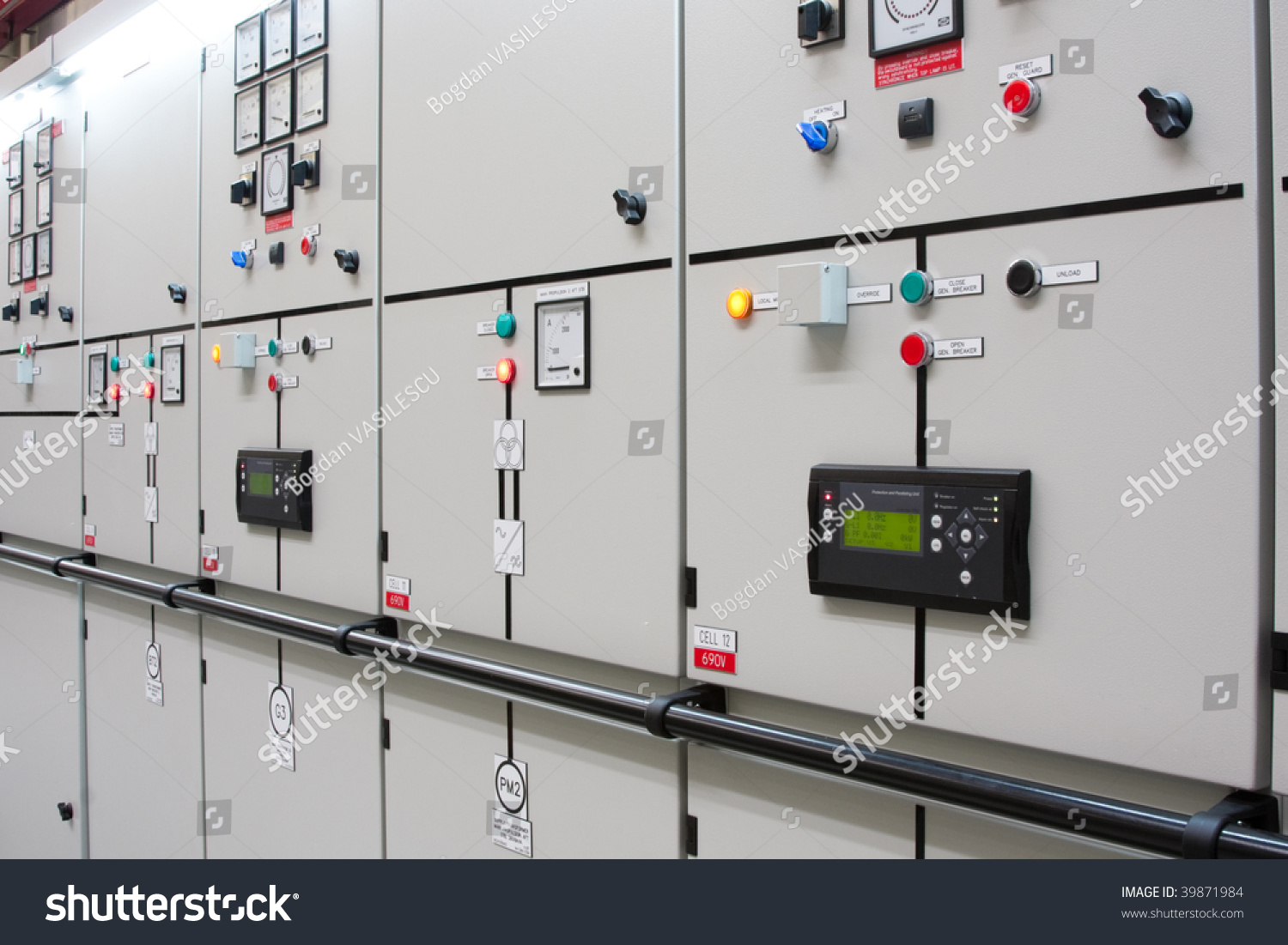 Industrial Electrical Switch Panel Factory Stock Photo (Edit Now ...
