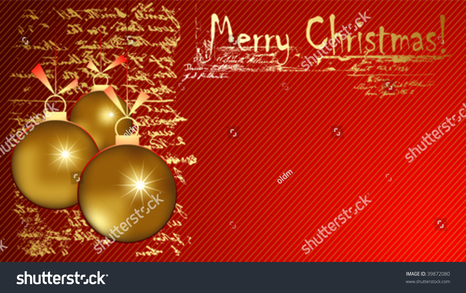 Christmas Greeting Card Ornaments Stock Vector Hd Royalty Free