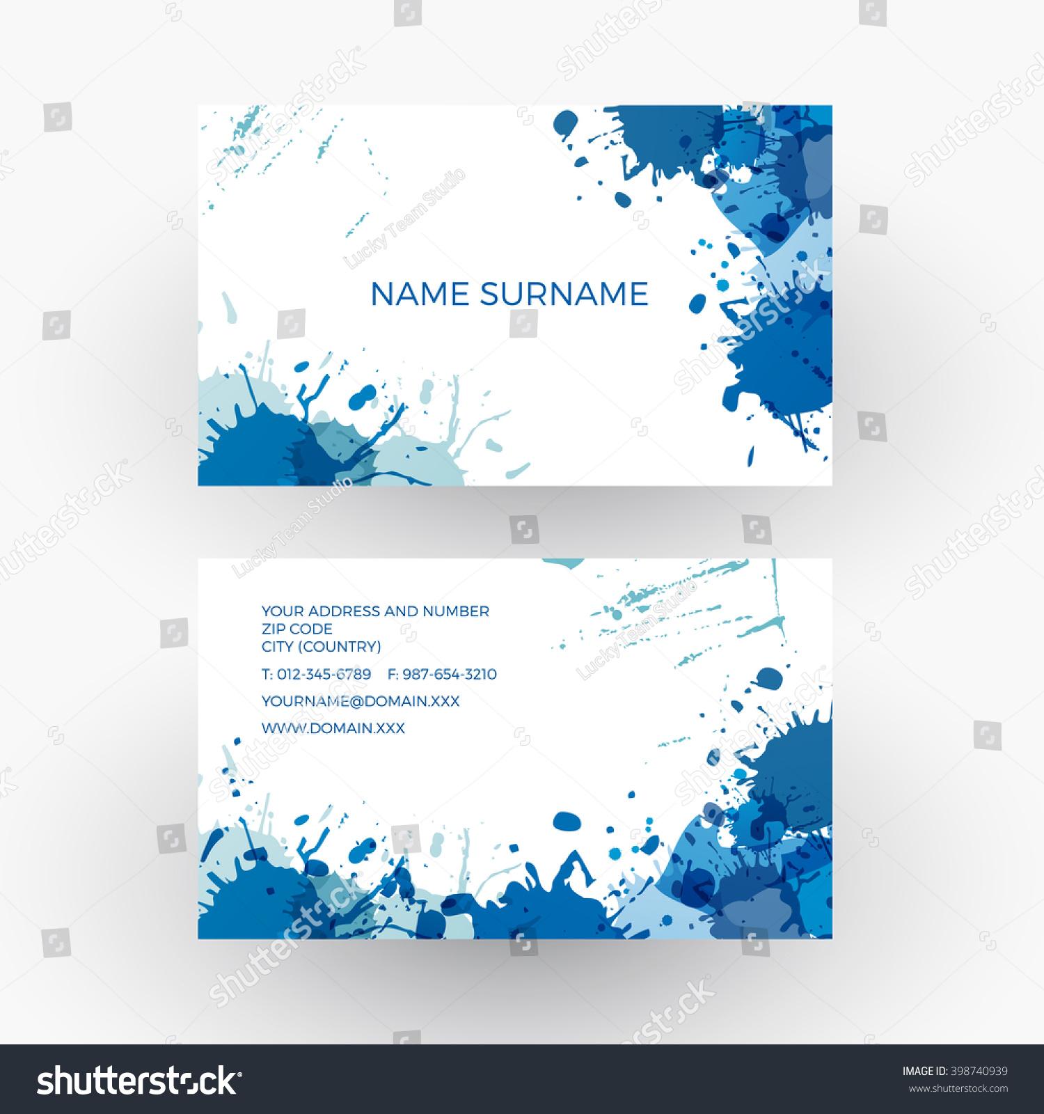 Vector Abstract Blue Splash Concept Painter Stock Vector