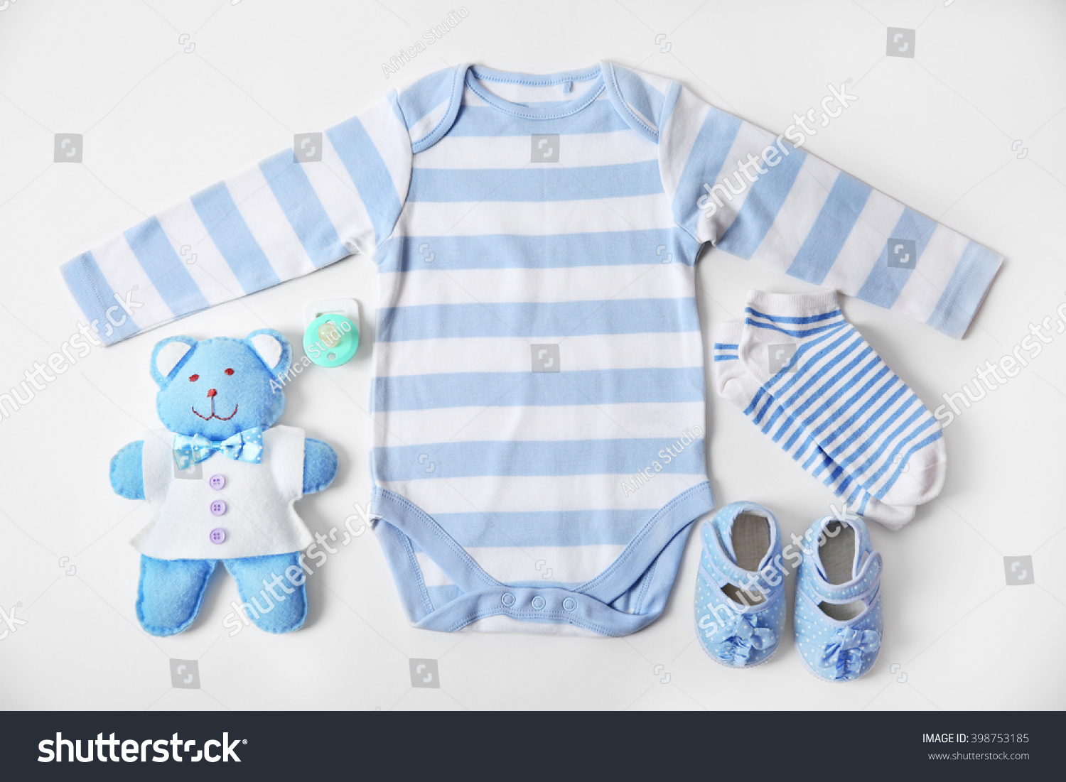 9a971581f9fc Baby Clothes Toys On White Background Stock Photo (Edit Now ...