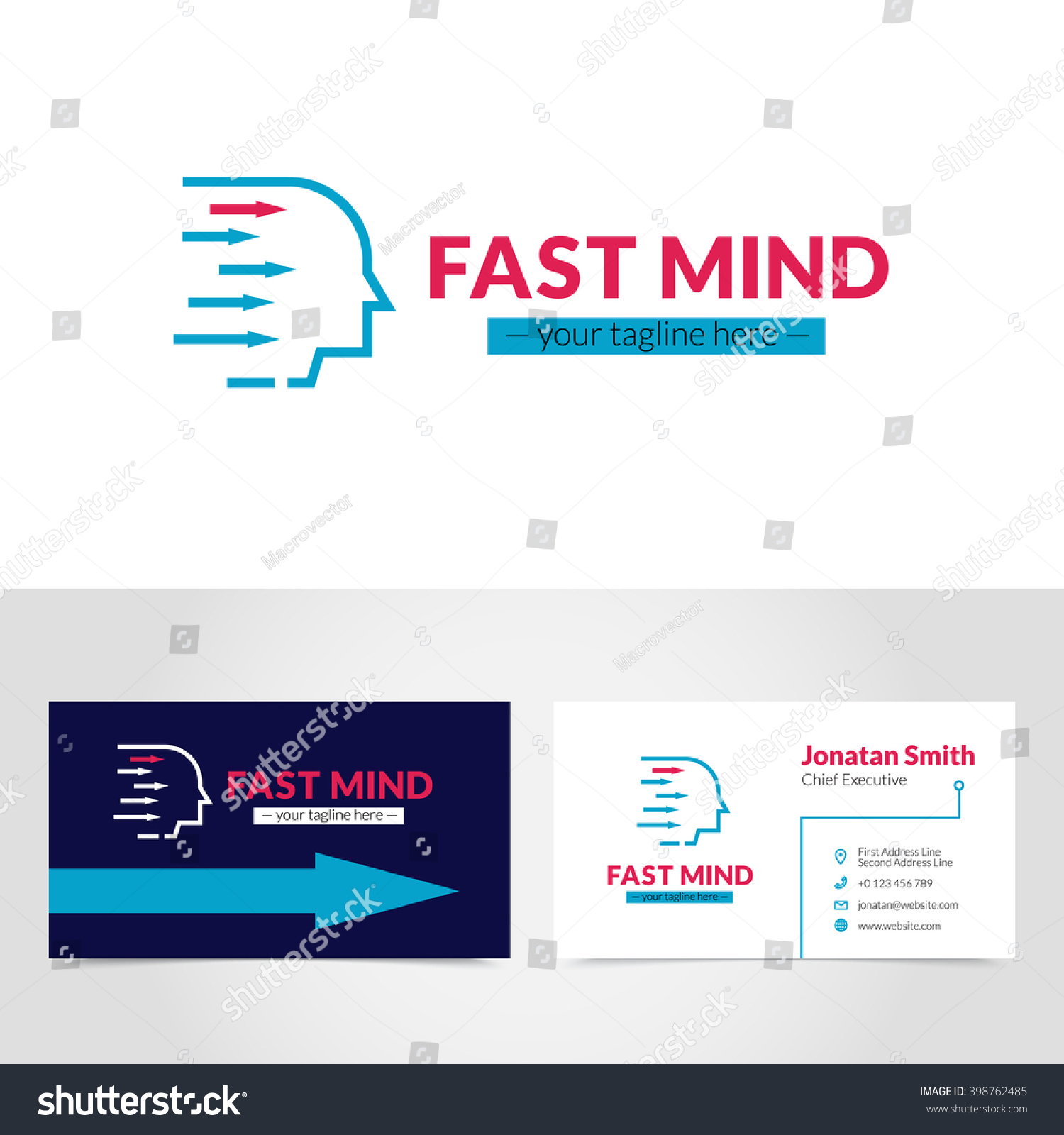 Easy Create Online Personalize Business Card Stock Vector ...