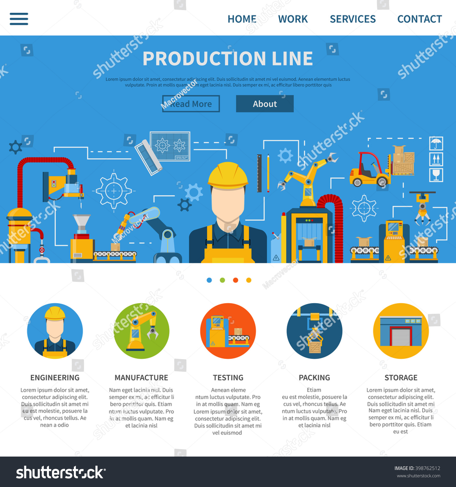 One Web Page About Industrial Production Stock Photo (Photo, Vector ...