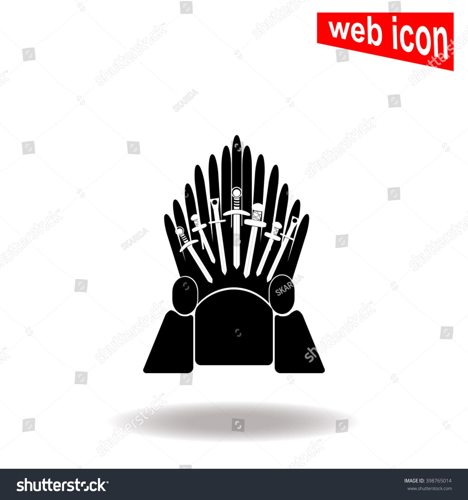 Iron Throne Silhouette Throne Icon Stock Vect...