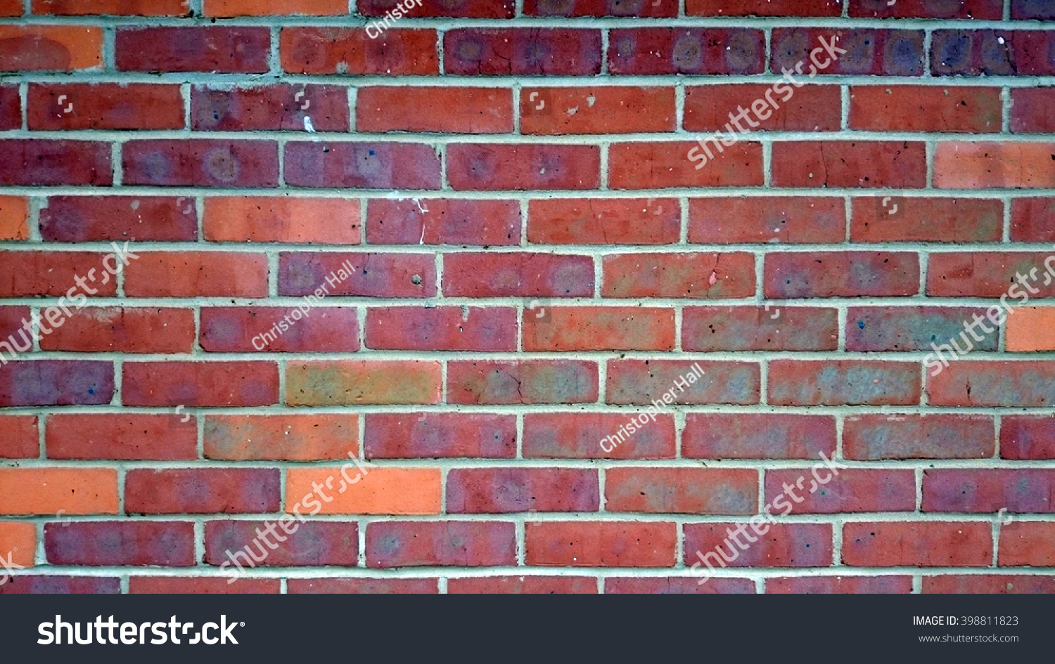 Close Up Of A Red Brick Wall