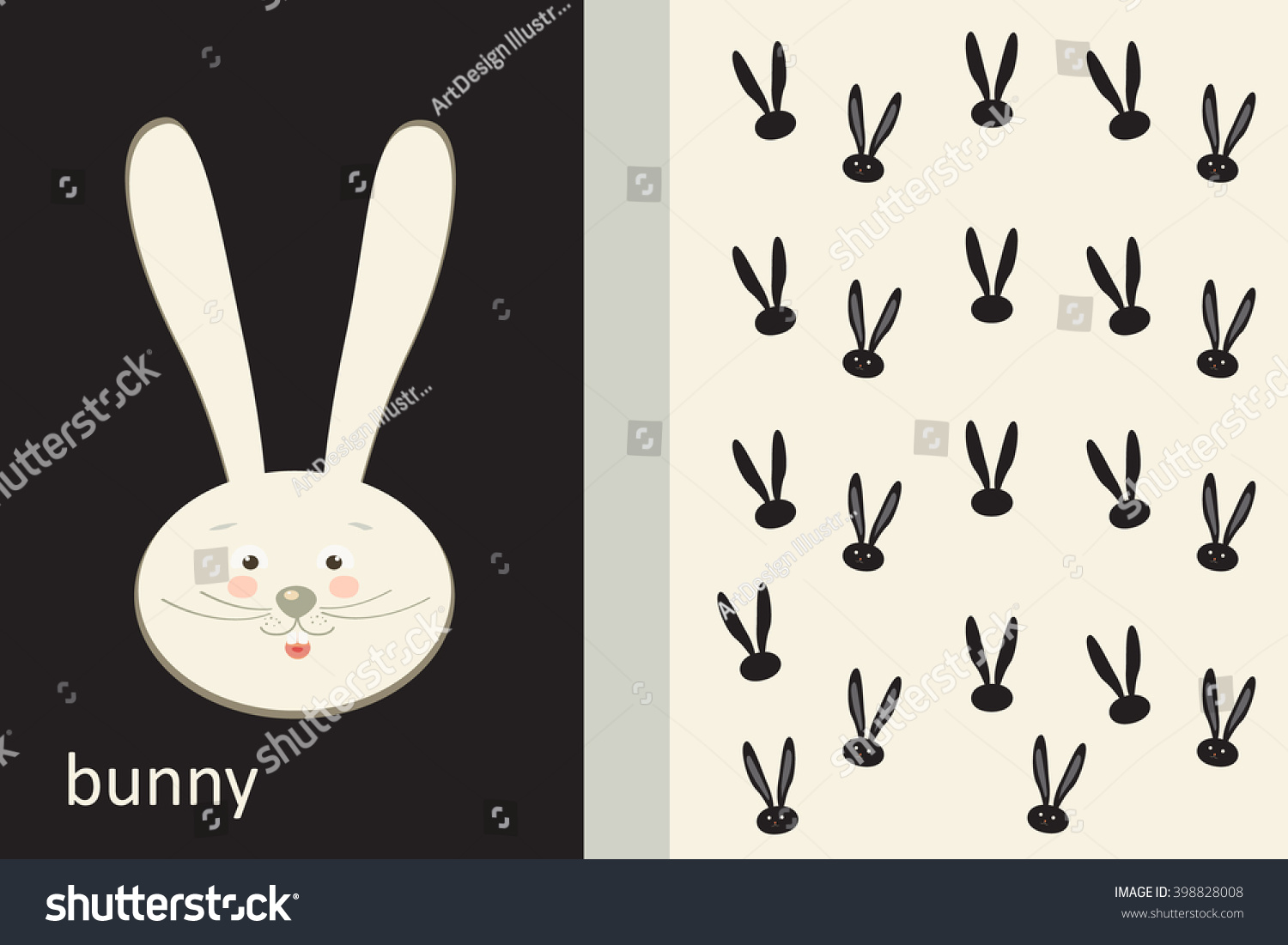 Rabbit invitation card design 2017 moon stock vector 2018 rabbit invitation card design 2017 moon festival flyer vector easter holiday template with stopboris Images