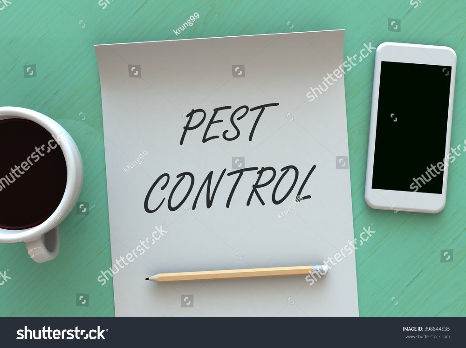 Pest control 3d rendering message on stock illustration 398844535 pest control 3d rendering message on paper smart phone and coffee on table geotapseo Gallery