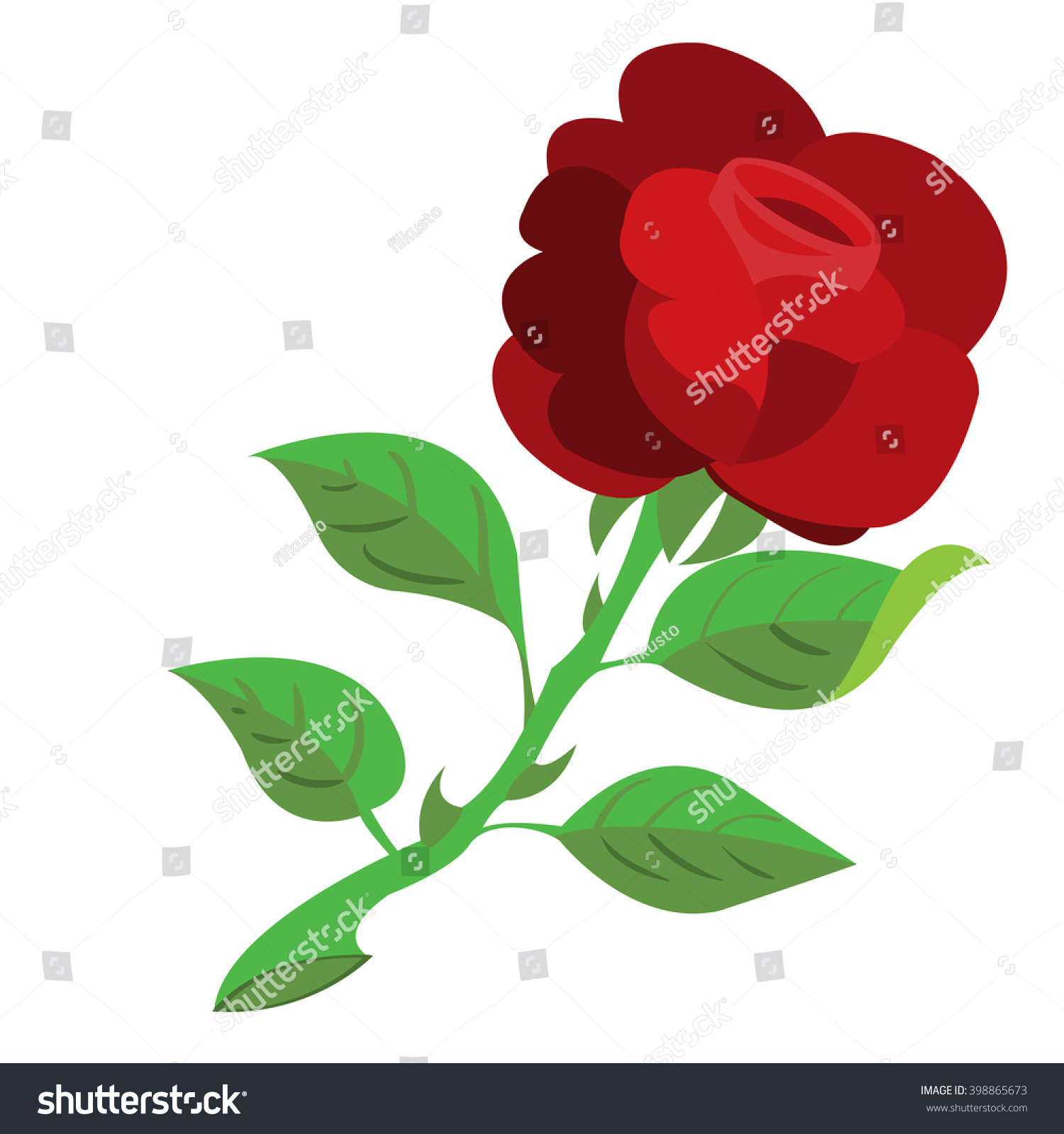 Rose Flower Color Illustration Logo Stock Vector (2018) 398865673 ...