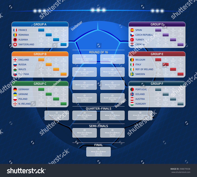 match schedule template web print football のベクター画像素材