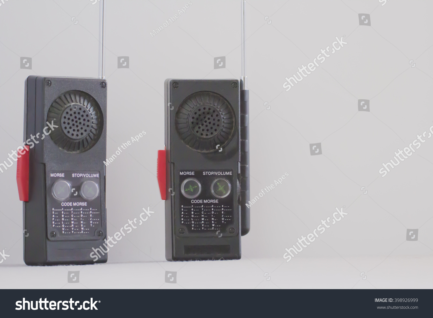 Pair Old Walkie Talkies 80 S Morse Stock Photo Edit Now 398926999