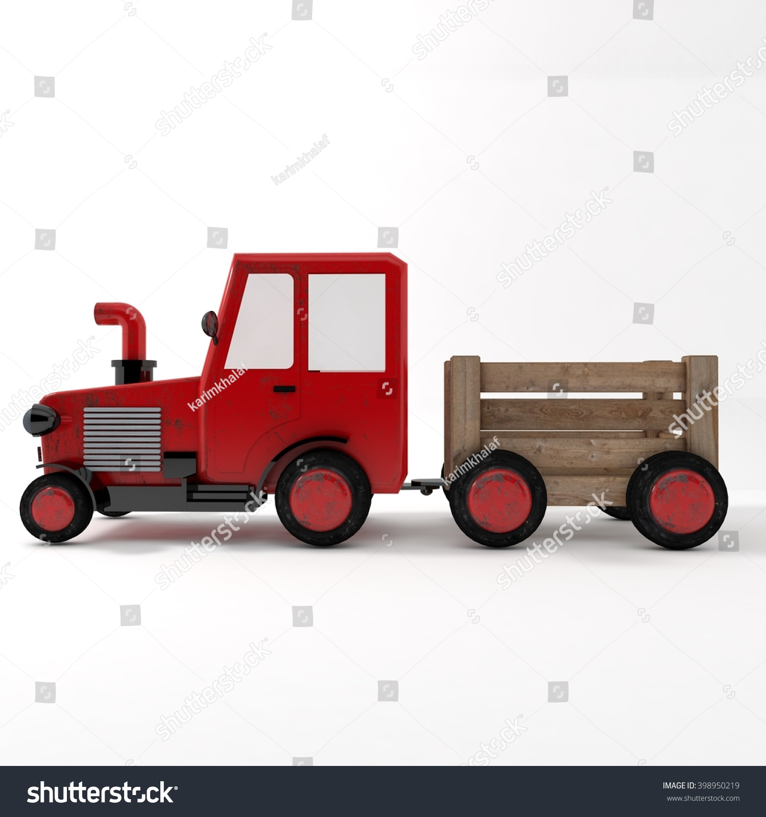 Side Picture Of Tractor : D tractor side stock illustration shutterstock