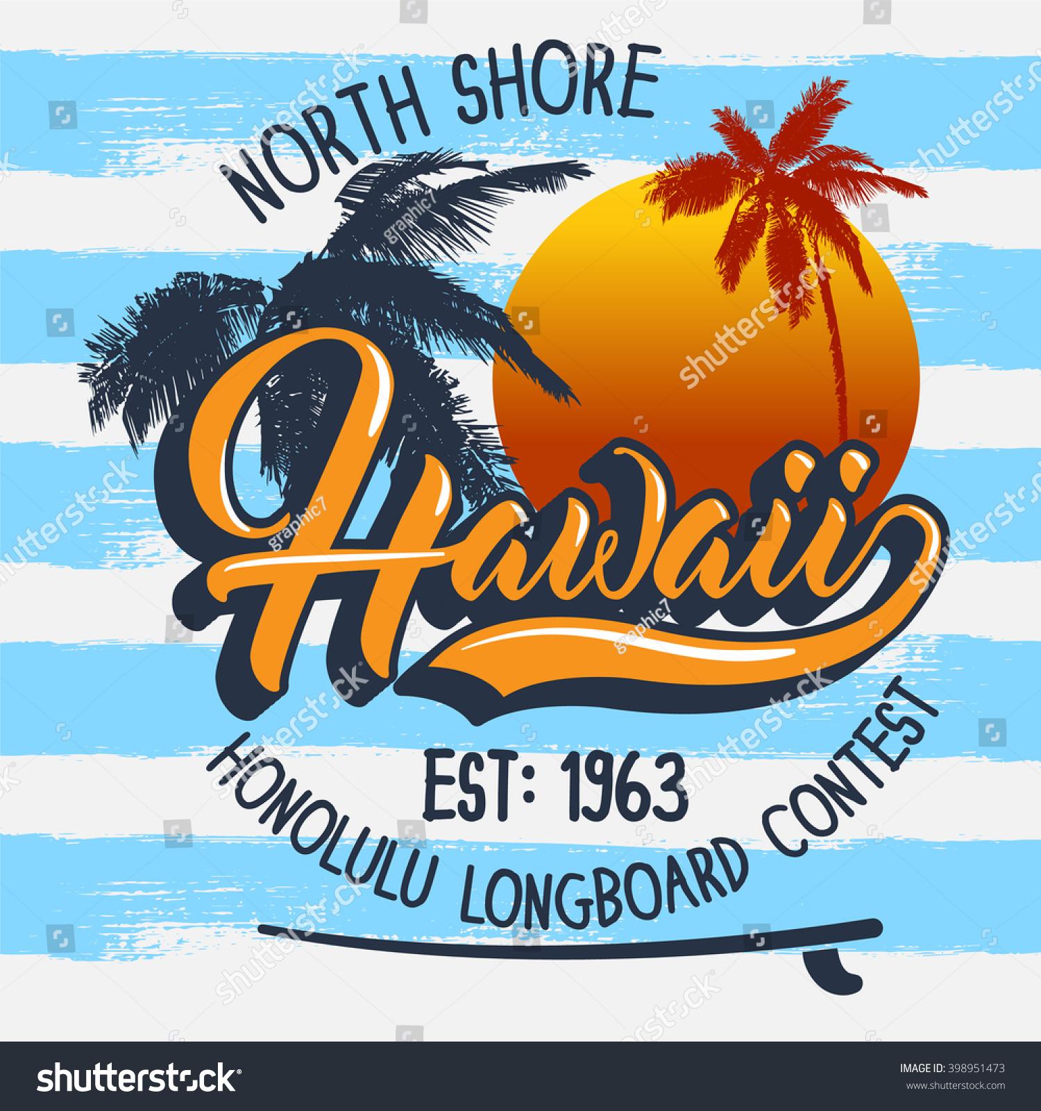 T shirt design hawaii - Hawaii Surfing Slogan T Shirt Graphic For Jersey Fabric Typography Design