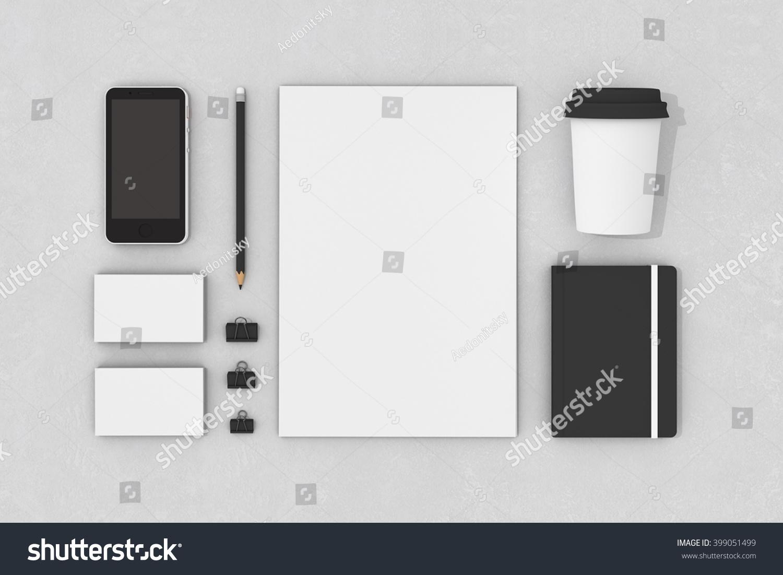 Blank Corporate Identity Stationery Set Personal Stock ...