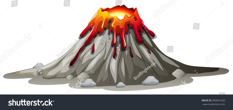 Volcano Eruption With ...