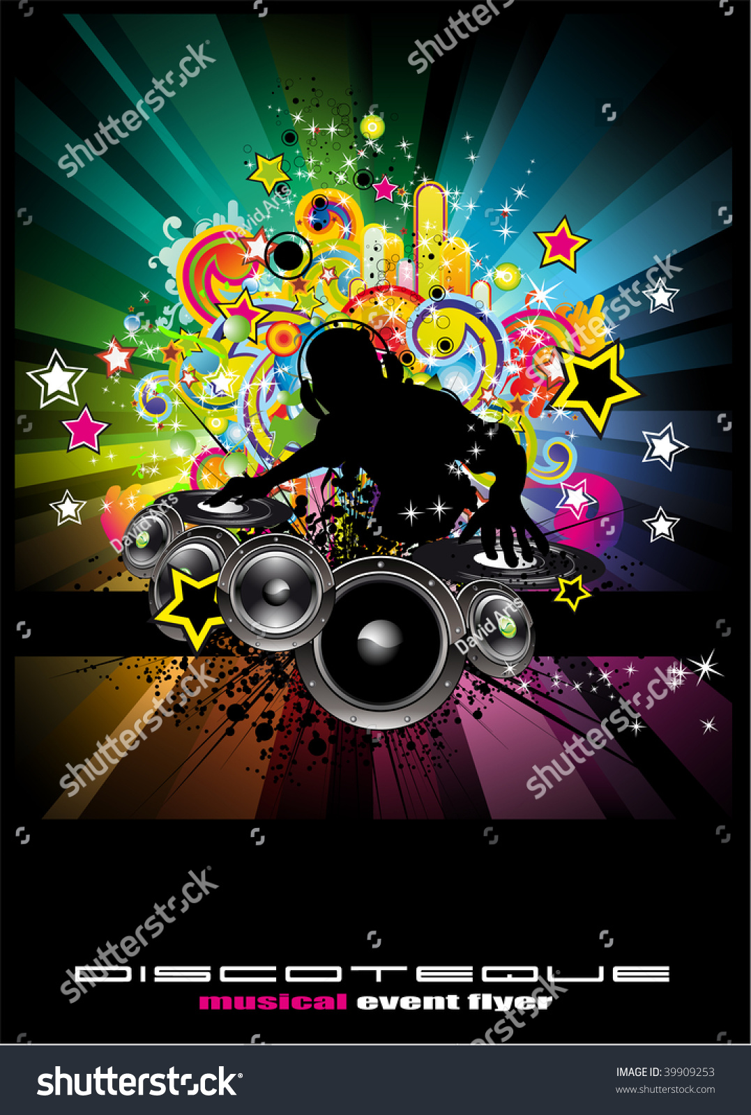 Music Event Background Flyers Posters Stockillustration 39909253