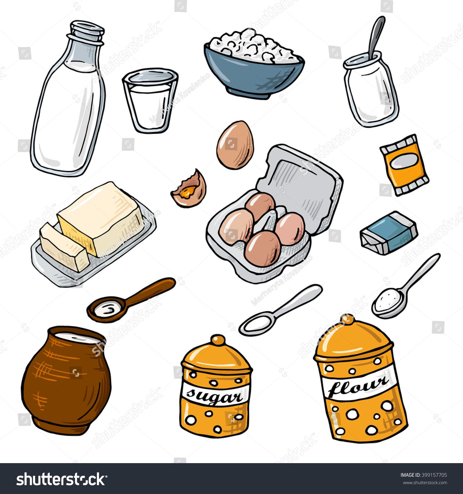 Baking Ingredients Clipart Ingredients Bak...