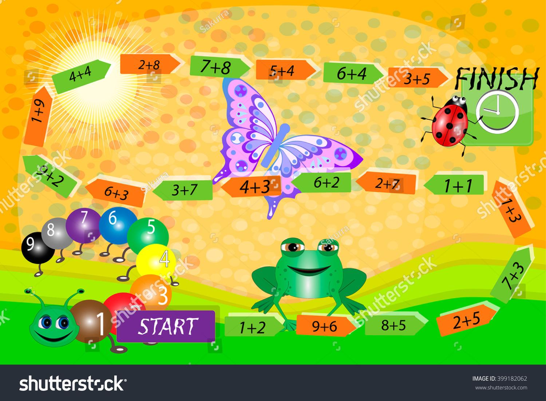 Mathematical Game Math Children Game Children Stock Vector 399182062 ...